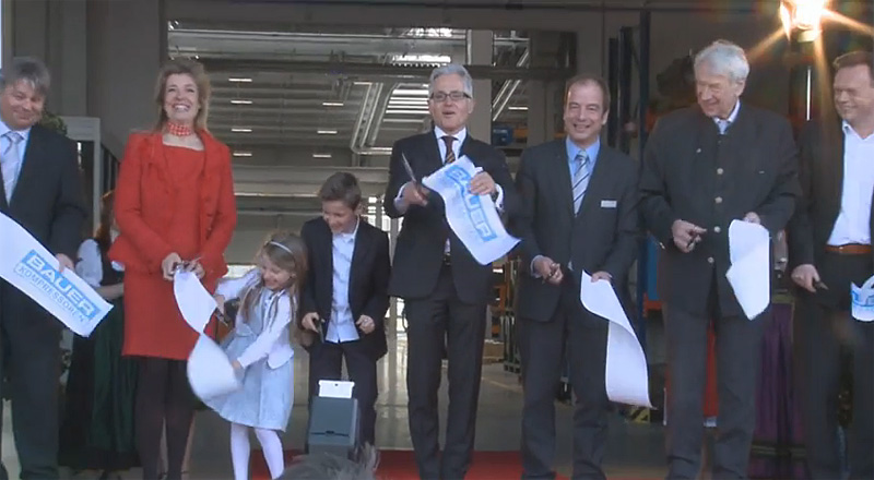 BAUER KOMPRESSOREN GmbH (BKM) held a Grand Opening Ceremony of its new assembly plant at Geretsried yesterday.